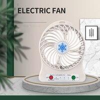 Xiaomi-ventilador de refrigeración portátil, Enfriador de aire con luz Led recargable, miniventilador Usb de escritorio, ventilador Usb sin batería