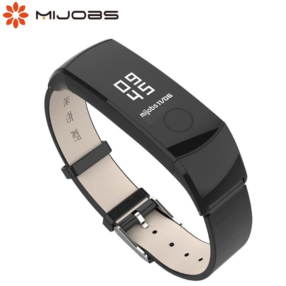 Mijobs Leather Strap For Huawei Honor Band 4 5 Smart Watch Wrist Band Strap For Honor 4 5 Smart Bracelet Wristbands Strap