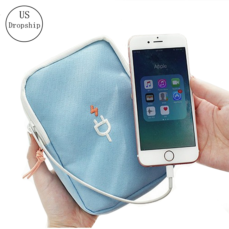 New Portable Travel Storage Cable Bags Data Line Organizer Bags Multifunction USB Charger Sorting Travel Accessories Bag