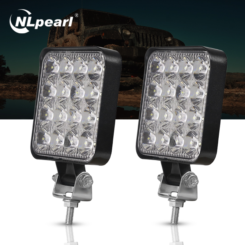 Nlpearl 2PCS 3inch Car Light Assembly 27W 48W Led Fog Lights For Motorcycles Car Led Light Bar Spot Offroad 4x4 Trucks Tractors