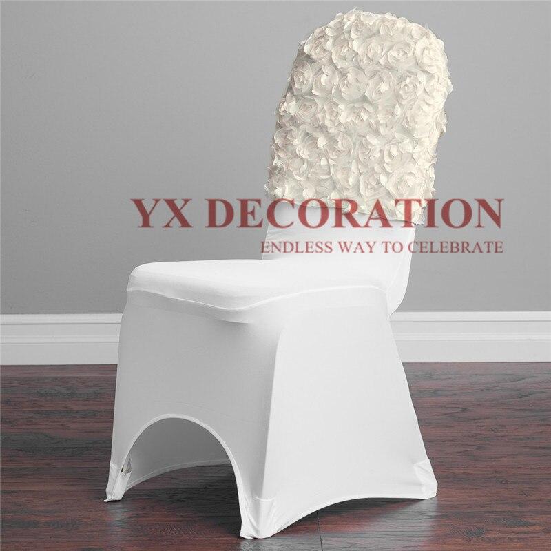 10 Uds lote de satén roseta silla Cap Hood para banquete boda decoración de cubierta de silla Moderno de algodón de mantel de lino impermeable cuadrado fiesta banquete mantel para exteriores de Color sólido mantel NAPE de superposición
