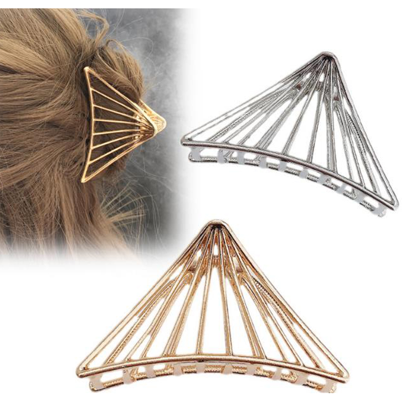 1 Pc Women Girls Geometric Alloy Fashion Hair Claws Hair Clips Banana Girls  Hair Making Tools Elegant Hair Accessories