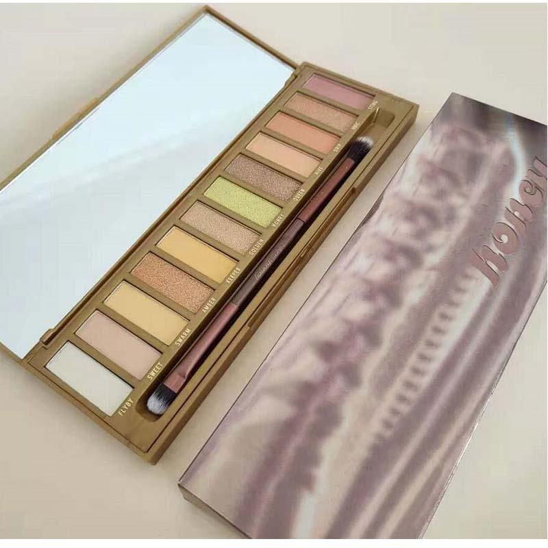 mais novo maquiagem mel sombra paletas 12 cores golden neutrals paleta fosco a prova dwaterproof agua