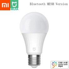 شاومي Mijia LED مصباح ذكي 5 واط بلوتوث شبكة الإصدار التي تسيطر عليها صوت 2700 6500K تعديل درجة حرارة اللون الذكية LED لمبة