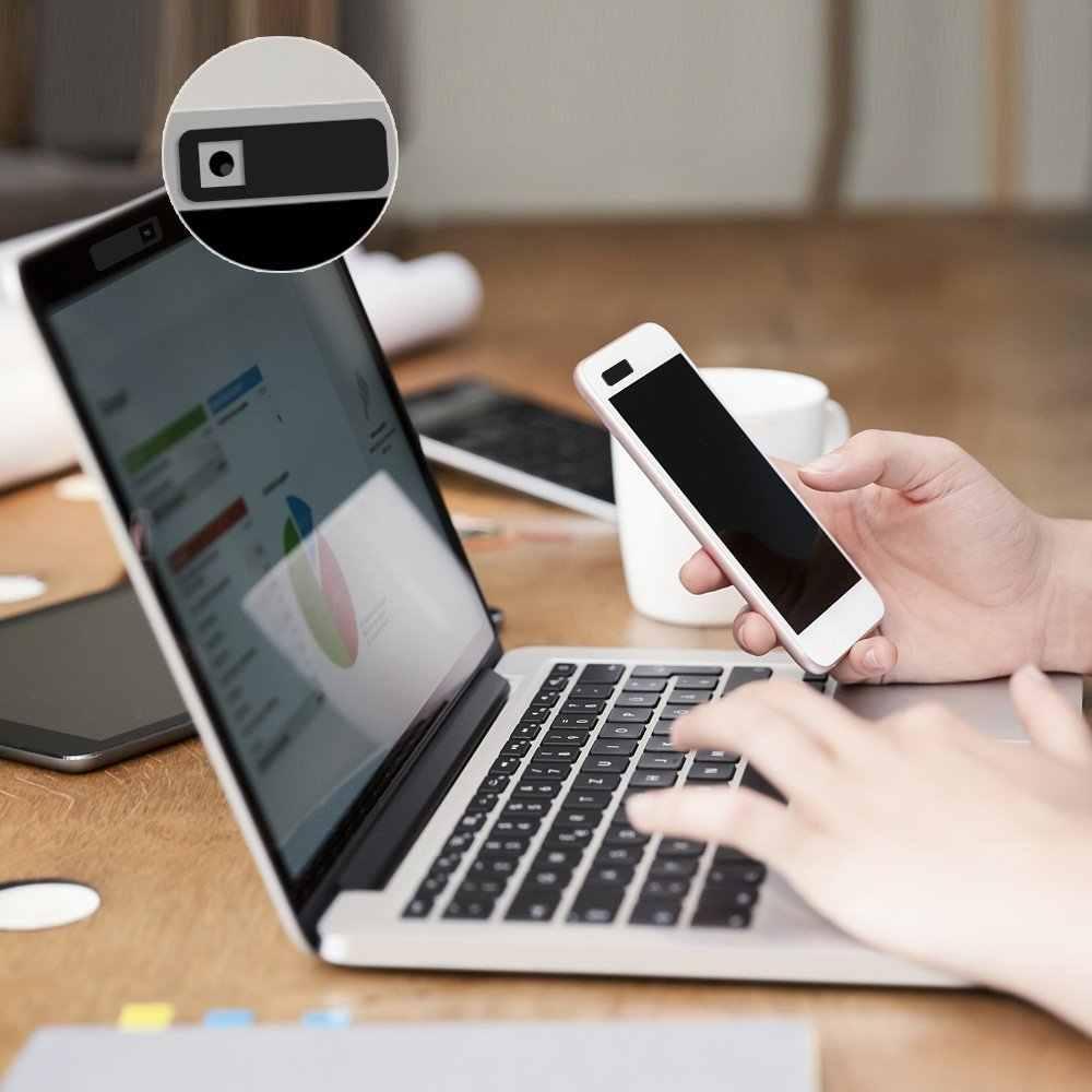 Đa Năng Webcam Bao Da Siêu Mỏng Chụp Nam Châm Thanh Trượt Ống Kính Máy Ảnh Cho iPhone Macbook iPad Laptop Web Riêng Tư Miếng Dán