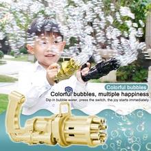 Electric Bubble Machine Black Gold Gold Gatling Bubble Gun Children Automatic Bubble Blowing Toy Gun Kids Toy