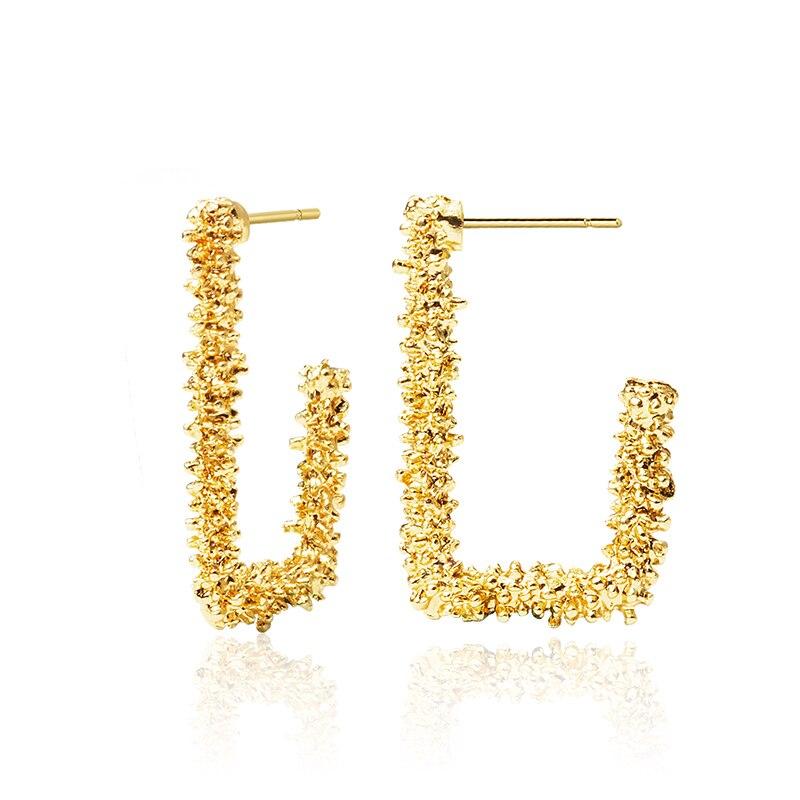 LOVR New Korean Statement Acrylic Drop Earrings for Women 2019 Fashion Vintage Metal Geometric Gold Dangle Earring Jewelry