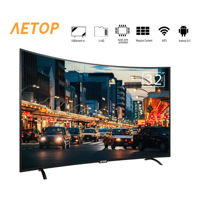 Free shipping -high quality mini tv 32 inch television 2k hd android smart curve tv with cheap price
