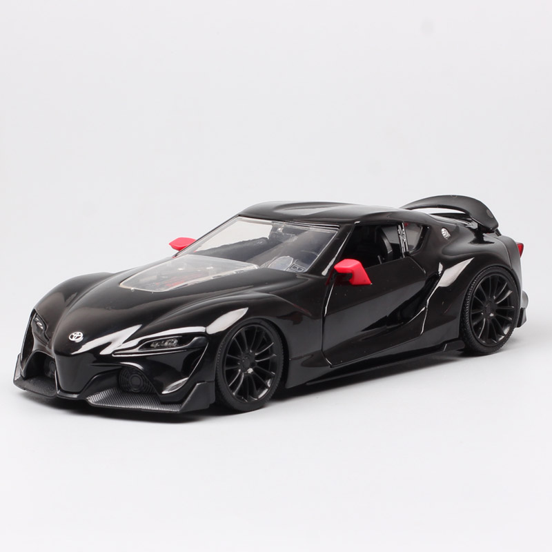 Luxury Large 1:24 Scale Jada The Toyota FT-1 Concept Car Toys Metal Auto Diecast Hybrid Sports Vehicle Model For Children Boys
