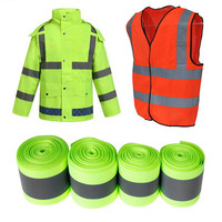 2019 New Design 5M High Visibility Safety Reflective cloth DIY Fluorescent webbing sewing on Reflective Tape Wholesale CSV