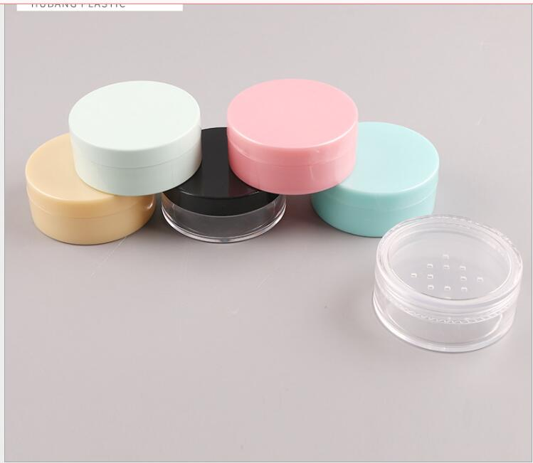 8G  Plastic Jar Tin Pot Case Bottle Sifter For  Eye Shadow Loose Powder Skin Care Art Nail  Make Up Cosmetic Packing Container