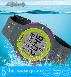 Mens Digital Watches Multi-Function 50M Waterproof Sport Watch Silicone LED Digital Double Action Watch Clock relogio masculino