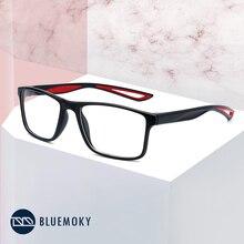Bluemoky esporte quadrado óculos quadro para homem optical miopia óculos de olho transparente claro óculos de homem eyewear 2020