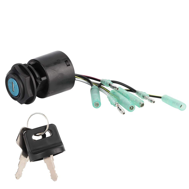 1 Set Boat Ignition Main Switch & Key For Honda Outboard Control Box Replace 35100-ZV5-013 Boat Accessories Marine