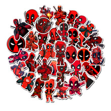 35PCS Marvel Deadpool Stickers DIY Car Motorcycle Travel Luggage Phone Guitar Skateboard Waterproof Classic Toy Decal Stickers