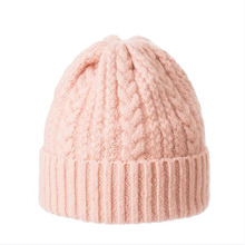 Women Autumn Winter Hats Elastic Knitted Wool Cotton Gorro Solid Multicolors Beanies Cap High-end Cute Casual Hats korean version spring and winter gorro cap lady s fashion drape delicate women hats 3 solid color high quality free shipping hot