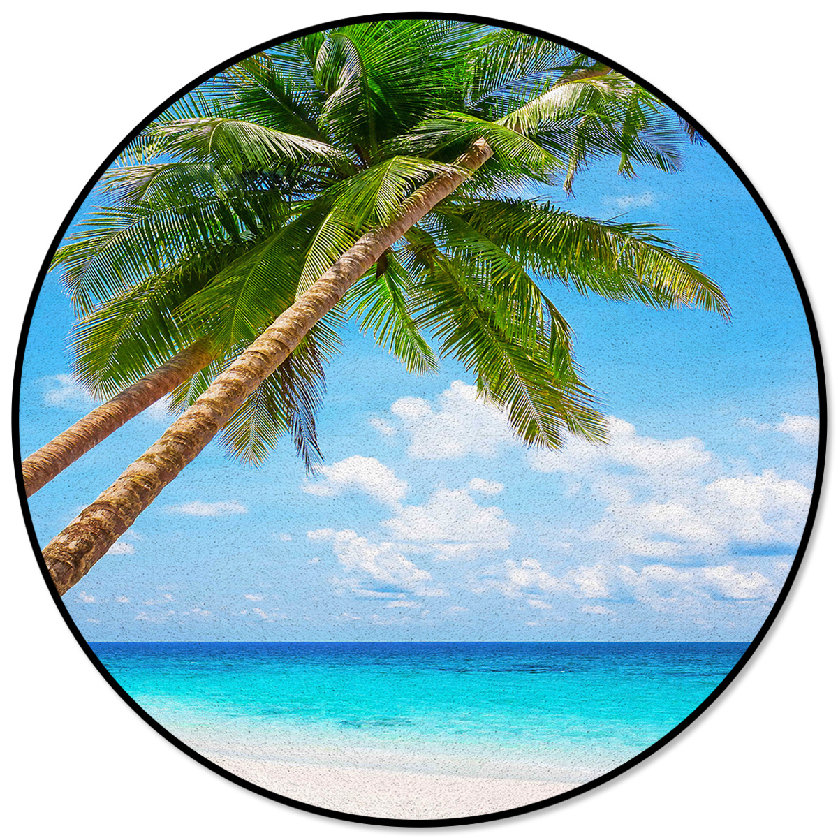 Coconut Tree Beach Pattern Rugs And
