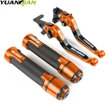 Motorcycle Accessories Extendable Brake Clutch Levers and Handlebar Hand Grips ends For KTM 1190 AdventuRe/R ADV 2013-2016 2015 motorcycle for ktm 1290 super adv ktm 1290 super adventure r handlebar ends motorcycle accessories aluminum handlebar grips