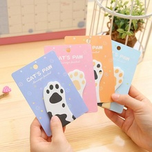 1packs/lot Cat Claw Shape Notes Four Random Notepad Cute Stationary Creativity Sticky Notes Kawaii To Do List of breeds beauty american staffordshire terrier january notebook american staffordshire terrier record log diary special memories to do list academic notepad scrapbook