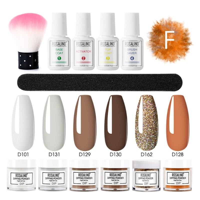 mergulho frances brilho shinning unhas manicure kit varias cores duradouras 02
