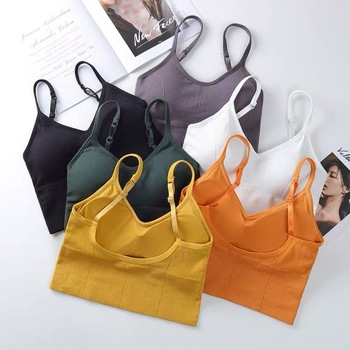 Bra Top Women Bras Sexy Lingerie Crop Tops Backless Bralette Active Bustier With Padded Seamless Girls Underwear Brassiere