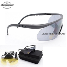 Tactical Goggles Shooting-Glasses Airsoft Military Protection UV400 Sport with Myopia-Frame