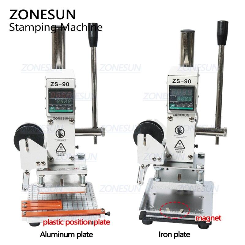 Zonesun zs90 새로운 뜨거운 호 일 스탬핑 기계 pvc 카드 가죽 종이 엠보싱 스탬핑 기계에 대 한 수동 청동 기계-에서부각기부터 홈 & 가든 의  그룹 2