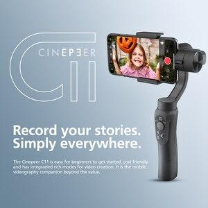 Image 2 - Ручной Стабилизатор CINEPEER C11, 3 осевой подвес для смартфона с трекером по объекту для видеоблога ZHIYUN VS isteady