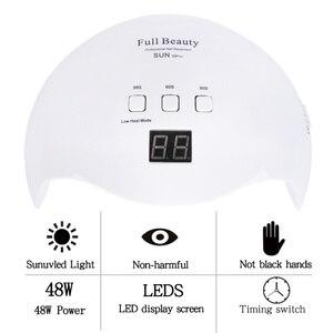 Image 2 - 42W Nail Lamp Dual Light UV LED Dryer for Manicure Curing Gel Polish Lamp 30s/60s/99s Low Heat Mode Nail Art Tools LASUNX9Plus 1