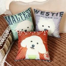 Pillow Three-dimensional Simulation Printing Cushion Embrace Case Cartoon Dog