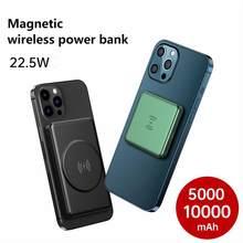 15w magnético Built-10000mah bateria sem fio power bank para magsafe iphone 12 pro max 12 mini carregador portátil banco de energia móvel