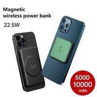 Magsafe-Banco de energía inalámbrico magnético para iPhone 12 Pro Max 12, de 15W cargador portátil de teléfono móvil, 5000mAh, Magsafing