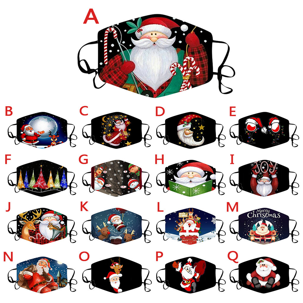 Смываемая маска для взрослых с рождественским принтом, противотуманная маска для лица с изображением рта, многоразовая маска для рта, противотуманная защитная маска для рта|Женские маски|   | АлиЭкспресс