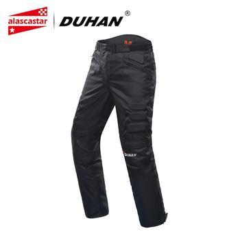 DUHAN Motorcycle Pants Men Windproof Protective Gear Motocross Pants Motorcycle Riding Trousers Pantalon Moto Pants With Knee