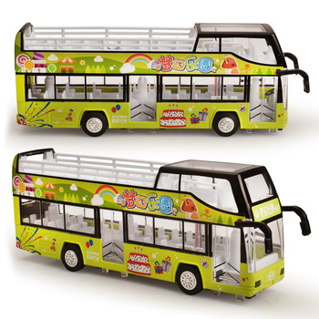 1:50 Alloy Bus Car Model Open-Air For Urban Tourist Bus Diecast Toy Vehicle Sightseeing Bus Sound Light Car Doors Open Kids Toys double decker bus london bus design car toys sightseeing bus vehicles urban transport vehicles commuter vehicles