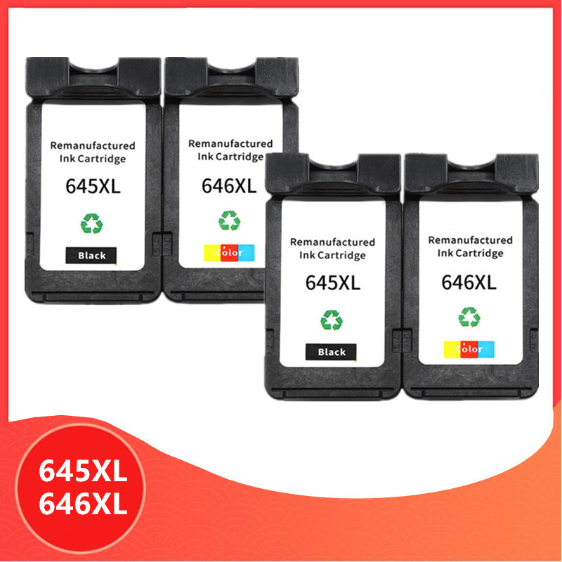 4Pack PG645 CL646 XL ink cartridge replacement for Canon PG-645 CL-646 PG 645 CL 646 Pixma MG2460 MG2560 MG2960 MG2965 image