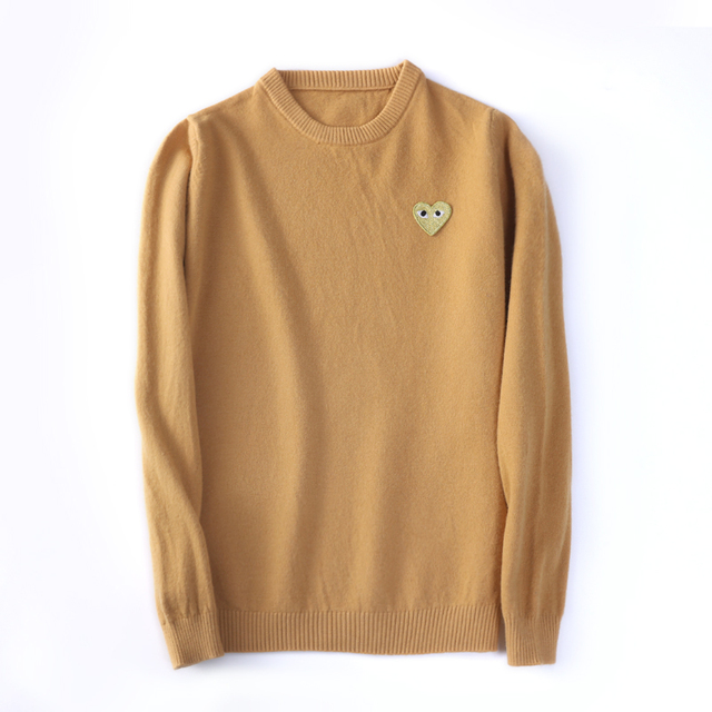 (have eyes)Wool Sweater CoupleLong sleeve Cashmere Pullover Menand Women Spring Autumn O-neck Sweater With Love Knitted Sweater 6