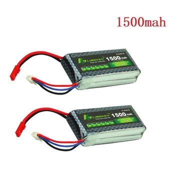 Limskey Power 7.4V Lipo Battery 2s 1500mah 25C 25c 30C for RC Qudcopter Helicopter Airplane Car JST / T Plug Toy 2S Battery 2PCS 1500mah 14 8v 4s 45c lithium li po battery xt60 plug 2pcs for rc helicopter qudcopter drone truck car boat bateria
