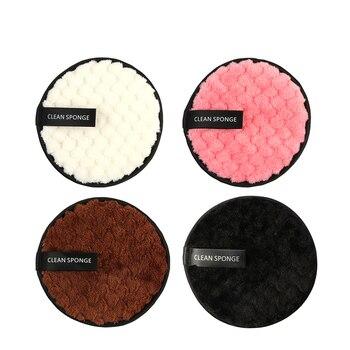 Toallitas desmaquillantes de microfibra, Toallitas de algodón para limpieza facial, 4 colores,...
