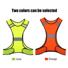 Sports-Vest Safety Night-Cycling Traffic Reflective-Stripes High-Visibility