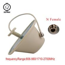 ZQTMAX antena interior, conector hembra omnidireccional de techo de 360 grados para amplificador de señal móvil