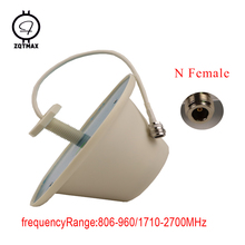 Zqtmax antena interna 360 graus omnidirecional teto n conector fêmea para o amplificador de sinal móvel cdma