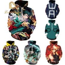 My Hero Academia Hoodie Sweatshirts Midoriya Izuku Bakugou Katsuki All Might 3D Pullovers Csopaly Jacket