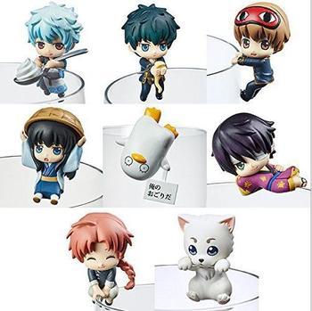 Figuras 8 unidades de Gintama (4,5cm) Figuras Gintama