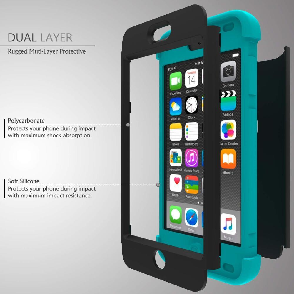 iPod Touch 7 / Touch 6 için Kılıf, Yüksek Etkili Ağır Darbeye - Cep Telefonu Yedek Parça ve Aksesuarları - Fotoğraf 2