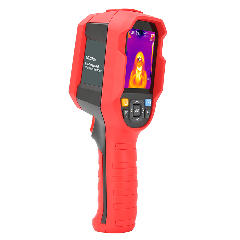 Digital Thermal Camera With A USB Cable Connected To Display For Temperature Measuring 6
