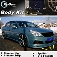 Opel vectra a/b/c/d 용 범퍼 립 디플렉터 입술 topgear 친구를위한 프론트 스포일러 스커트 car view tune/body kit strip|spoiler skirt|front spoilerfront skirt -