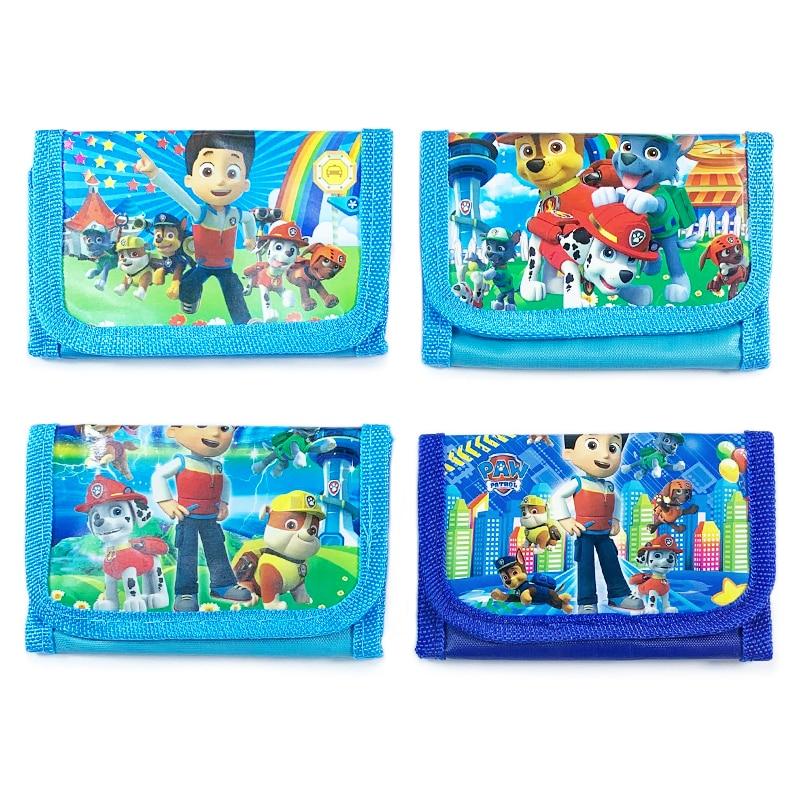 Paw Patrol-porte-monnaie de montre pour enfants, sans boîte, personnages animés Patrulla Canina, portefeuilles de pièces de monnaie, cadeaux pour enfants, expédition aléatoire