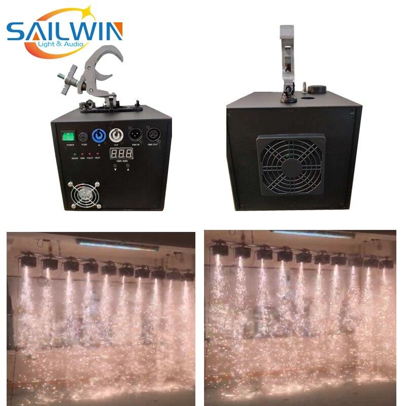 Stock 500W Cold Waterfall Spark Machine DMX Remote Control Fountain Sparkular Fireworks For Wedding TI Powder Downside