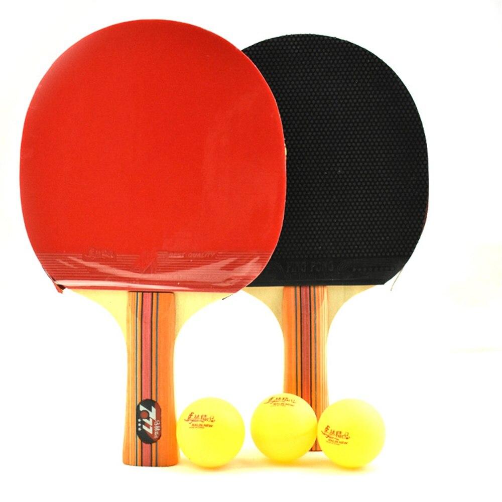 Raquette de Tennis manche Long et court lame en caoutchouc avec picots Double Face en raquettes de Ping-Pong avec balles de Ping-Pong CS0024